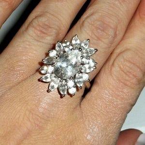 Jewelry - 😱💍💎VTG Sterling Topaz Cocktail Statement Ring
